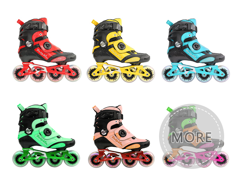 OEM carbon inline slalom skates,the color of Customization freestyle inline skates