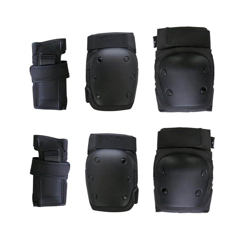 Skateboarding 6 Pack Protective Gears Skating Wrist Guard,Eblow Pads,Knee Pads Sets