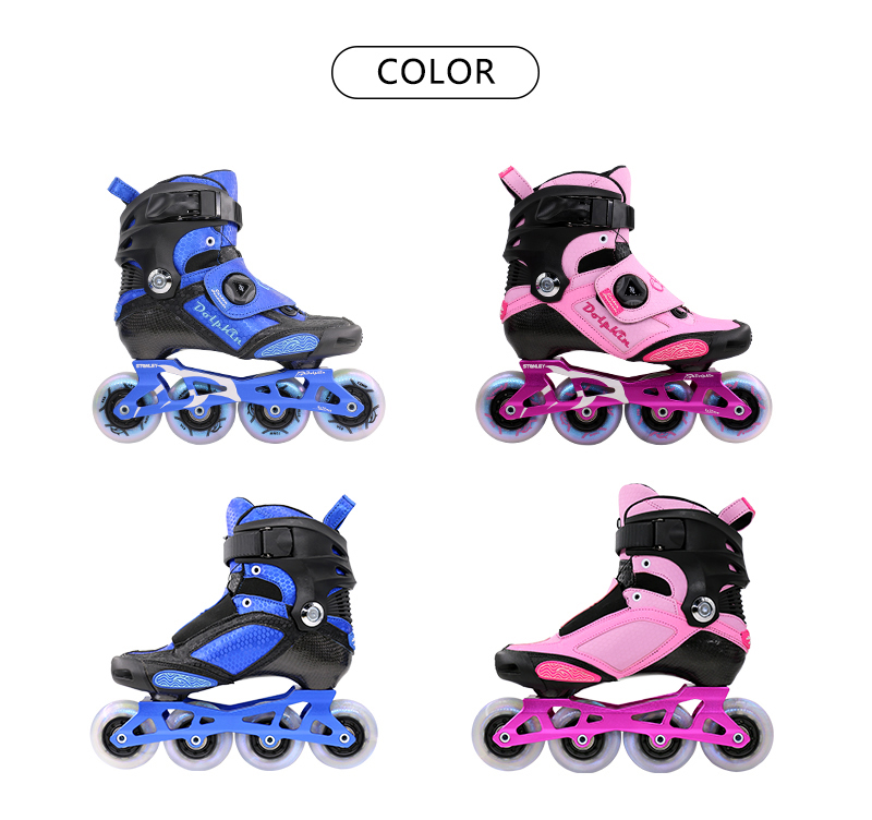 the color of Customization freestyle Slalom Skates, Carbon fiber Inline Skates Manufacturer